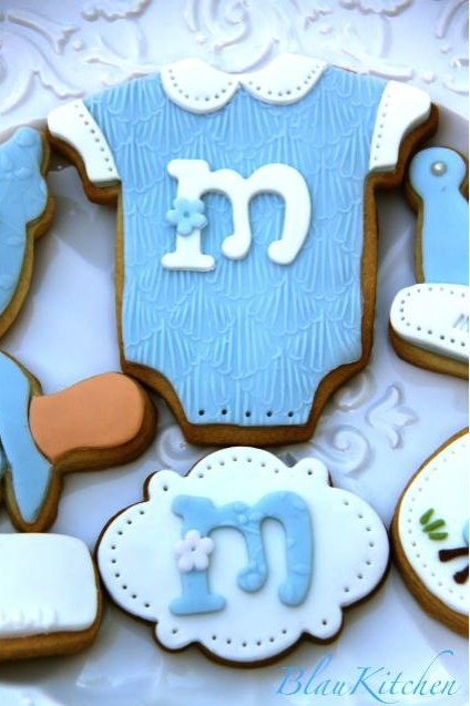 cookies, galletas, rico, dulce, postre, bebé, azul