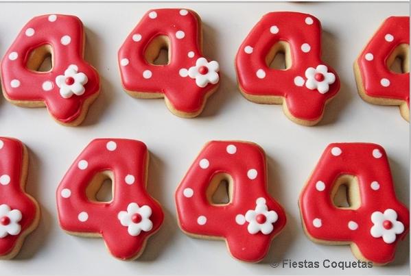 cookies, dulce, rico, galleta, postre, número, rojo