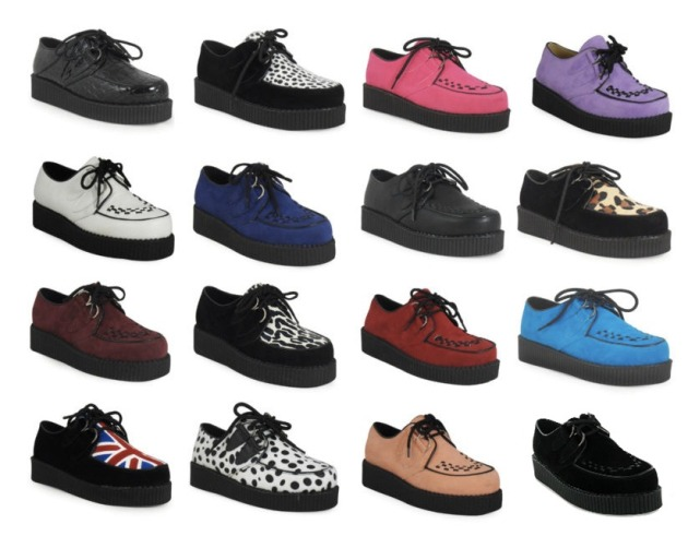 zapatos, creepers, outfits, zapatos, mujer, moda.