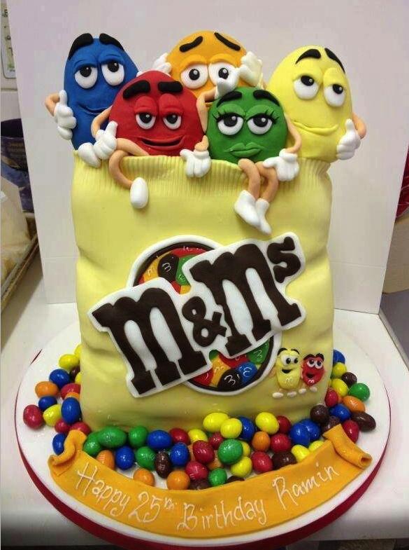 cakes, tartas, postres, dulces, rico, m&m's