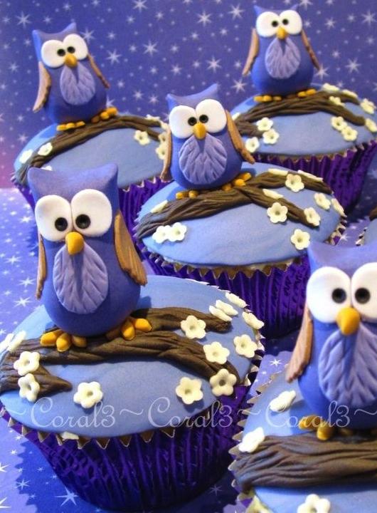 cupcakes, dulces, postre, rico