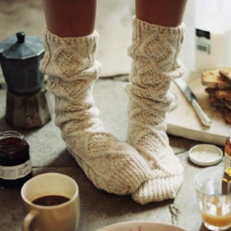 punto, calcetines, romántico.
