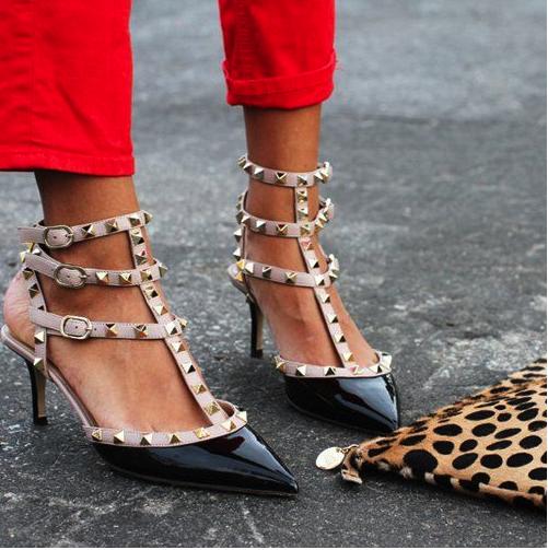 tacón medio, tacón midi, Valentino, zapatos, mujer.