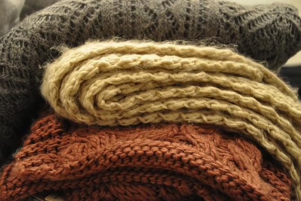 otoño, mantas, comfortable, apetecible