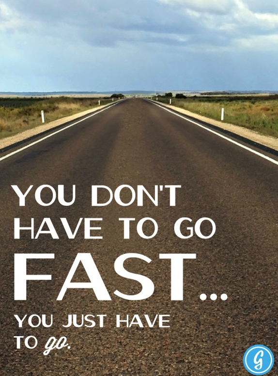 running, carretera, slogan, correr