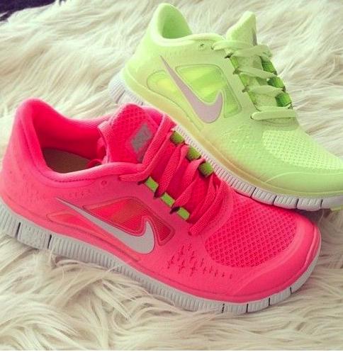 running, correr, zapatillas, Nike, floor, neón