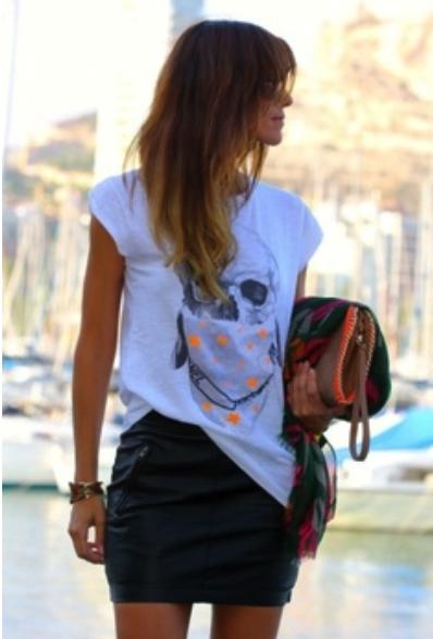 camiseta, tee, outfit, modelo, mujer, moda