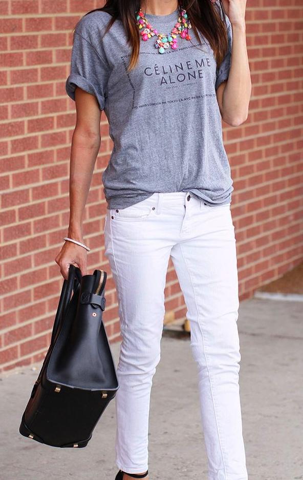 camiseta, tee, moda, mujer, Céline