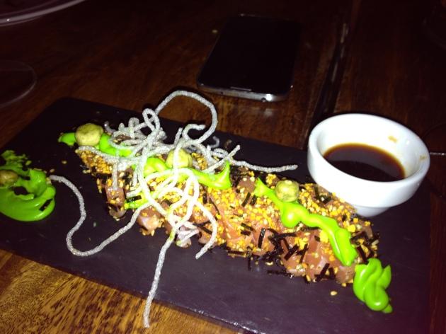 salmón, comida, restaurante, wasabi, rico, centro de Bellas Artes