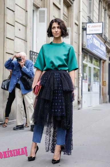 falda, pantalón, Olivia Palermo, outfit, moda, mujer, Olivia Yas Min