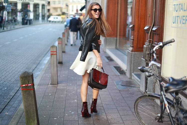 falda, trompeta, outfit, tendencia, moda, mujer