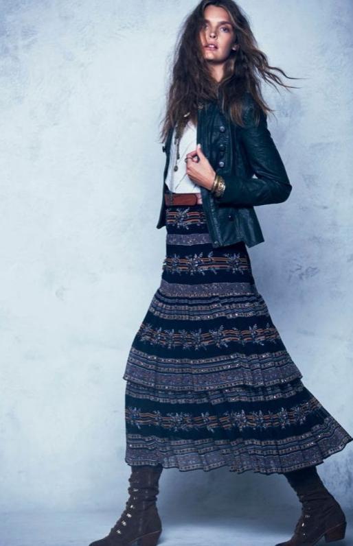 folk, moda, outfit, mujer, estilo