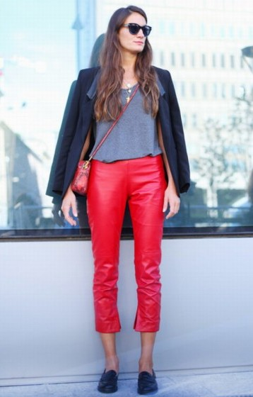 cuero, leather, outfit, moda, mujer, tendencia
