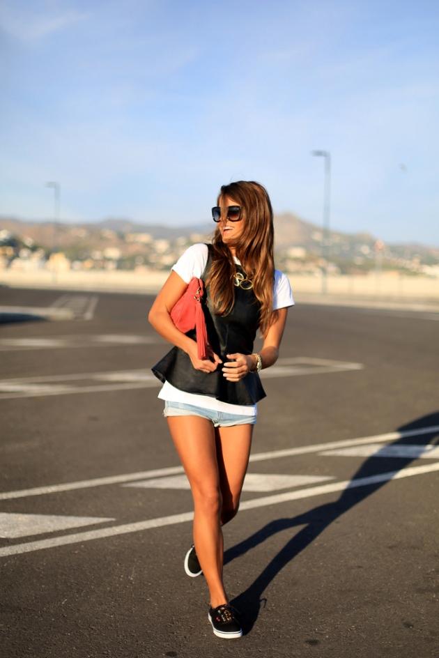 cuero, outfit, tendencia, mujer, Seams for a Desire