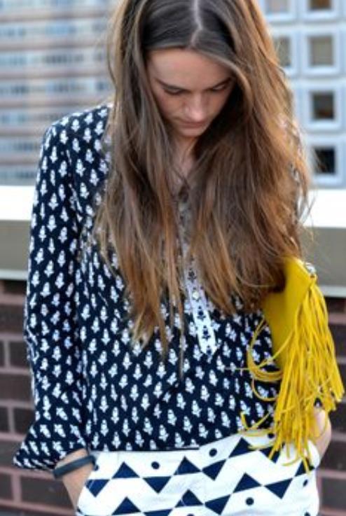 moda, mujer, tendencia, tartán, denim, rayas, outfit, print animal