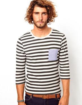 camiseta rayas, tee, outfit, moda, hombre, tendencia