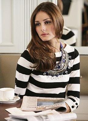 camiseta, rayas, outfit, moda, mujer, Rachel Bilson, Olivia Palermo