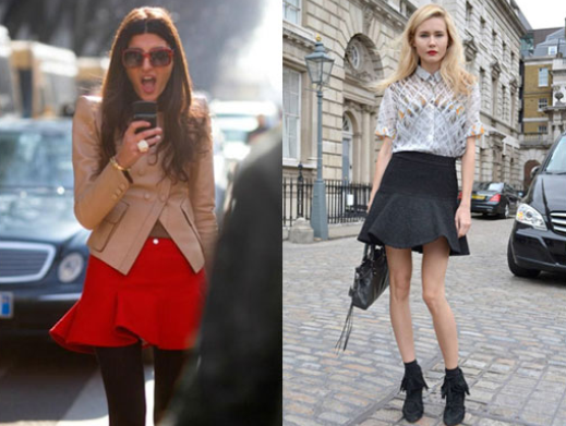 falda, pantalón, Olivia Palermo, outfit, moda, mujer, falda trompeta
