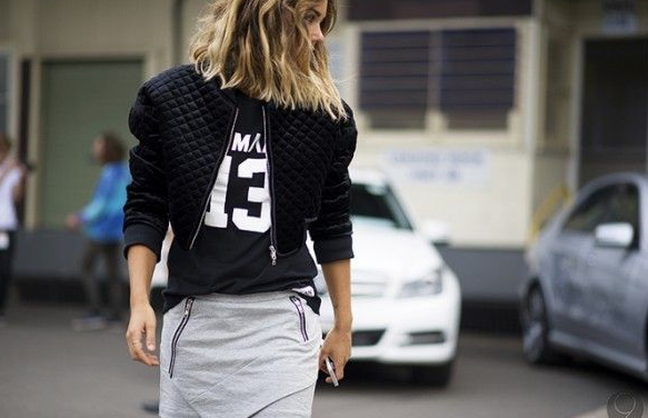 sporty, chic, outfit, moda, mujer, tendencia,