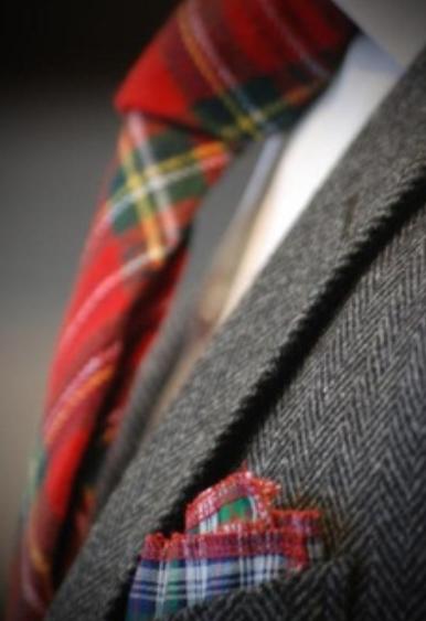 chaqueta, tweed, hombre, outfit, moda, tendencia,