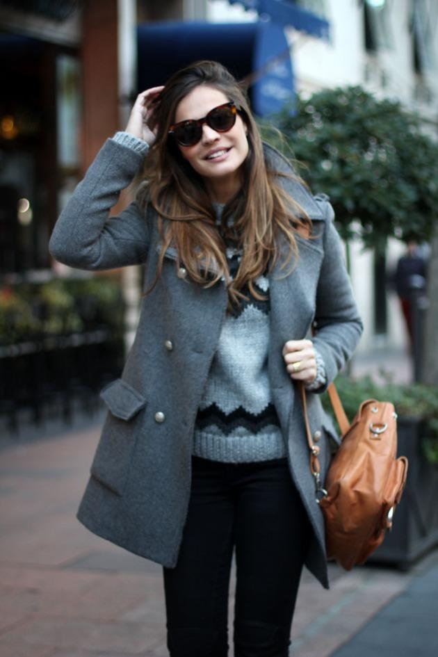 pelo, chaleco, abrigo, tendencia, outfit, mujer
