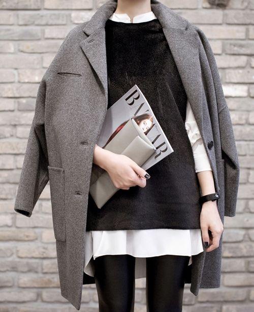 abrigo, tendencia, mujer, outfit