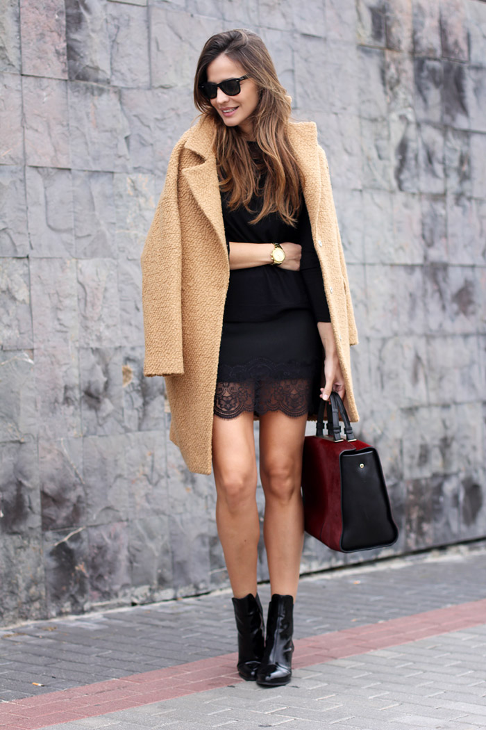 Abrigo beige outfit
