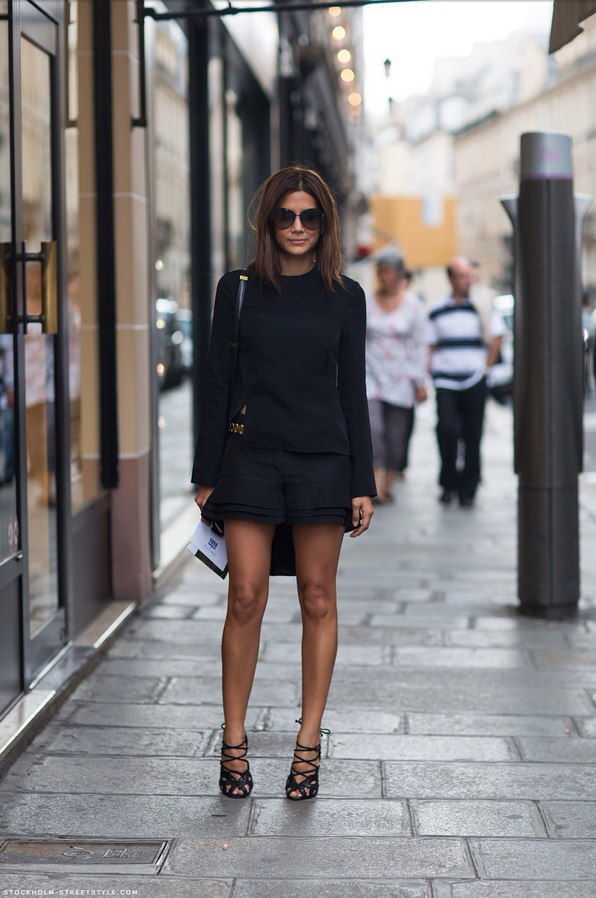 negro, total black, tendencia, mods, outfit, mujer