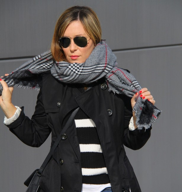 Blanco y negro, tendencia, outfit, mujer