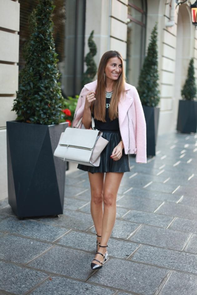abrigo, coat, outfit, moda, tendencia, mujer, rosa, de pelo