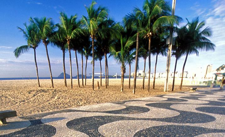 Playa, copacabana, Brasil, viaje, destino