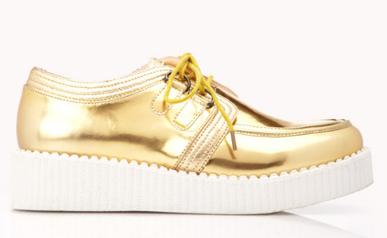 creepers, zapatos, metalizados, tendencia, outfit, mujer