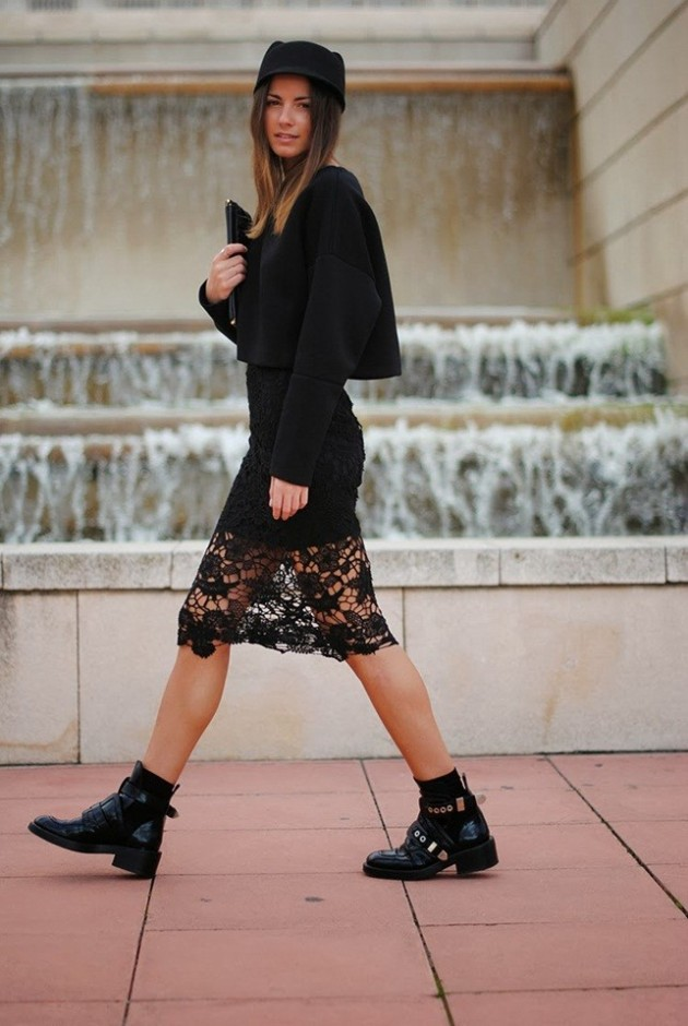 botines, cut out, zapatos, tendencia, mujer, outfit