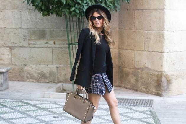 falda, outfit, moda, mujer, tendencia, pantalón