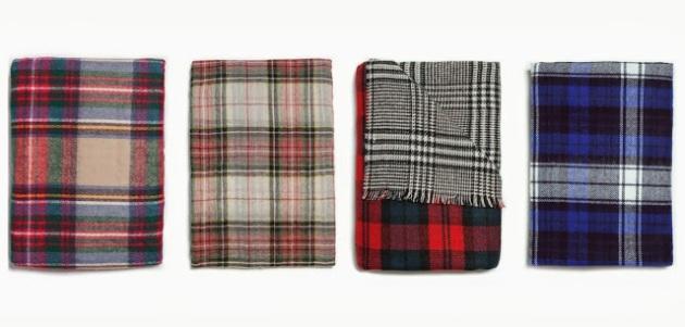 foulard, tartán, escocés, mujer, tendencia, Zara