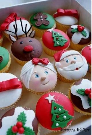 cupcakes, postres, galletas, Navidad, cocina, gourmet