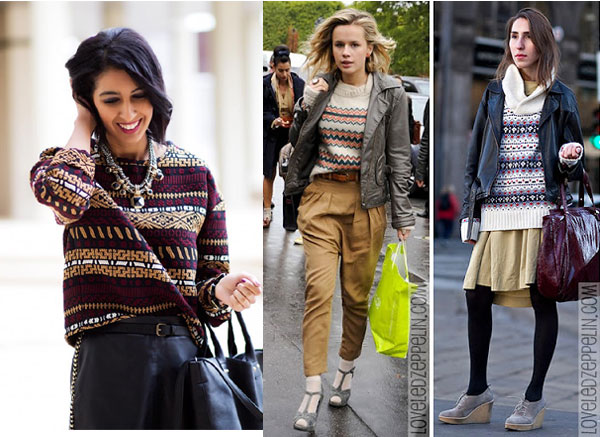 jersey, jacqard, tendencia,outfit, moda, mujer