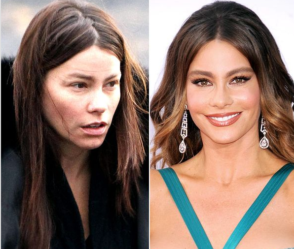maquillaje, before and after, antes y despues, Rihana, tendencia, mujer, Tyra Banks, Jessica Biel, Pink, JLo