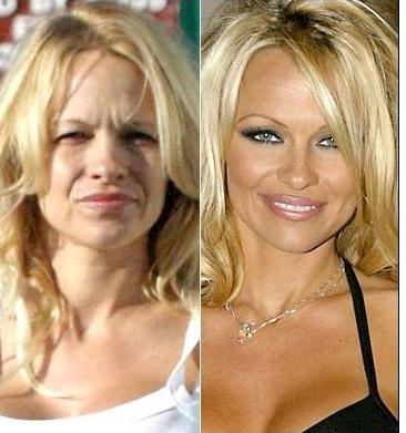 maquillaje, before and after, antes y despues, Rihana, tendencia, mujer, Tyra Banks, Jessica Biel, Heidi Klum, Pamela Sue Anderson