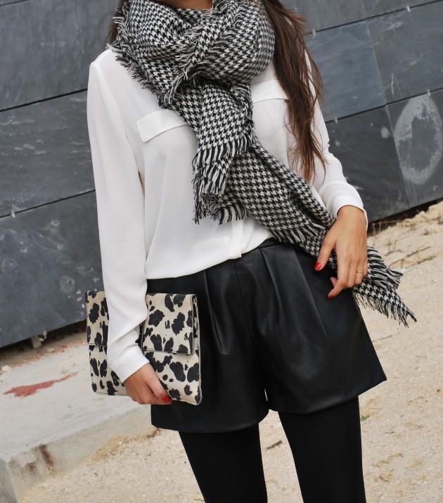 pata de gallo,Miroslava Duma, tendencia, outfit, mujer, blanco y negro