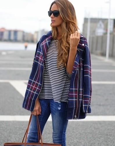 mixed prints, mezcla de estilos, outfit, mujer, tendencia