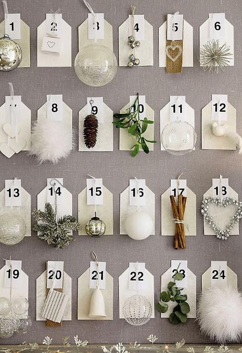Navidad, decoración de mesas, calendario adviento, árbol de Navidad