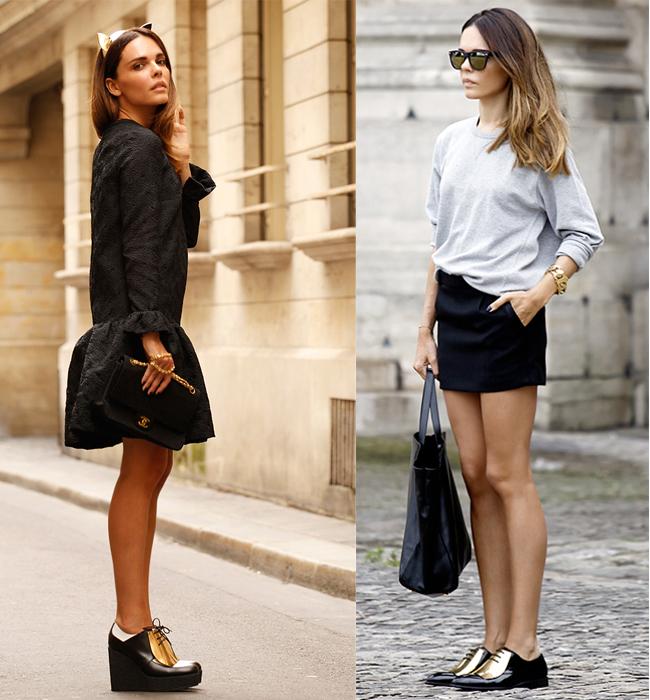 zapatos, oxford, metalizados, tendencia, outfit , hombre, mujer