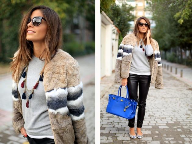abrigo, coat, outfit, moda, tendencia, mujer, faux fur coat, de pelo
