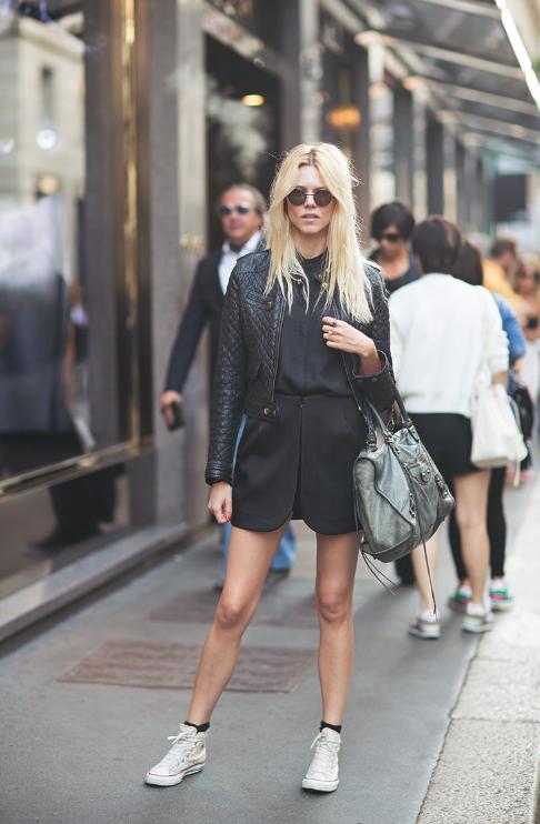 negro, color, tendencia, mujer, moda