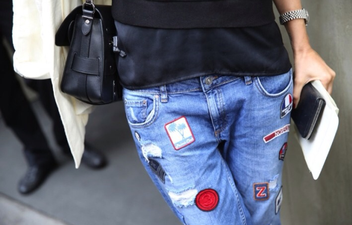 vaqueros, rotos, ripped jeans, moda, outfit, mujer