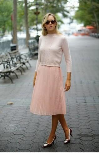 rosa, pink, total look, tendencia, outfit, mujer, pastel, vintage