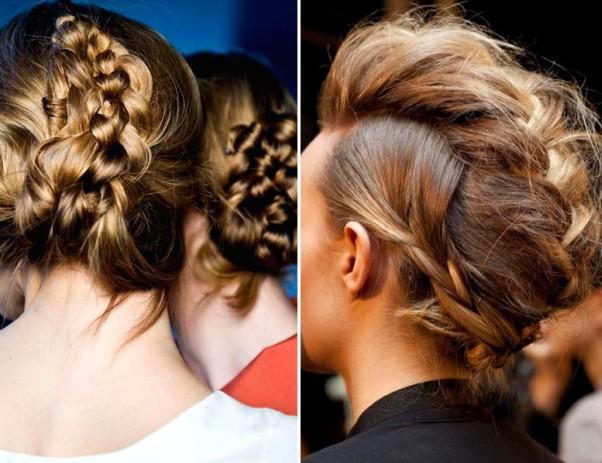 pelo, melena, tendencia, peinado, mujer, complementos, trenzas