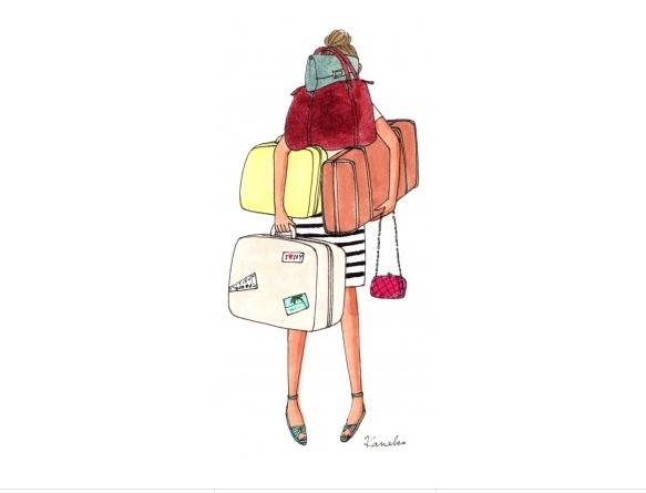 viaje, maletas, treintamasdiez, Rio de Janeiro, ilustración