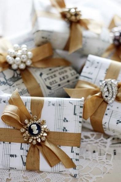 Papel kraft, envoltorio, regalo, Navidad, wrapping